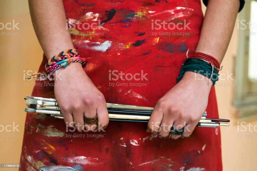 Artistic apron royalty-free stock photo