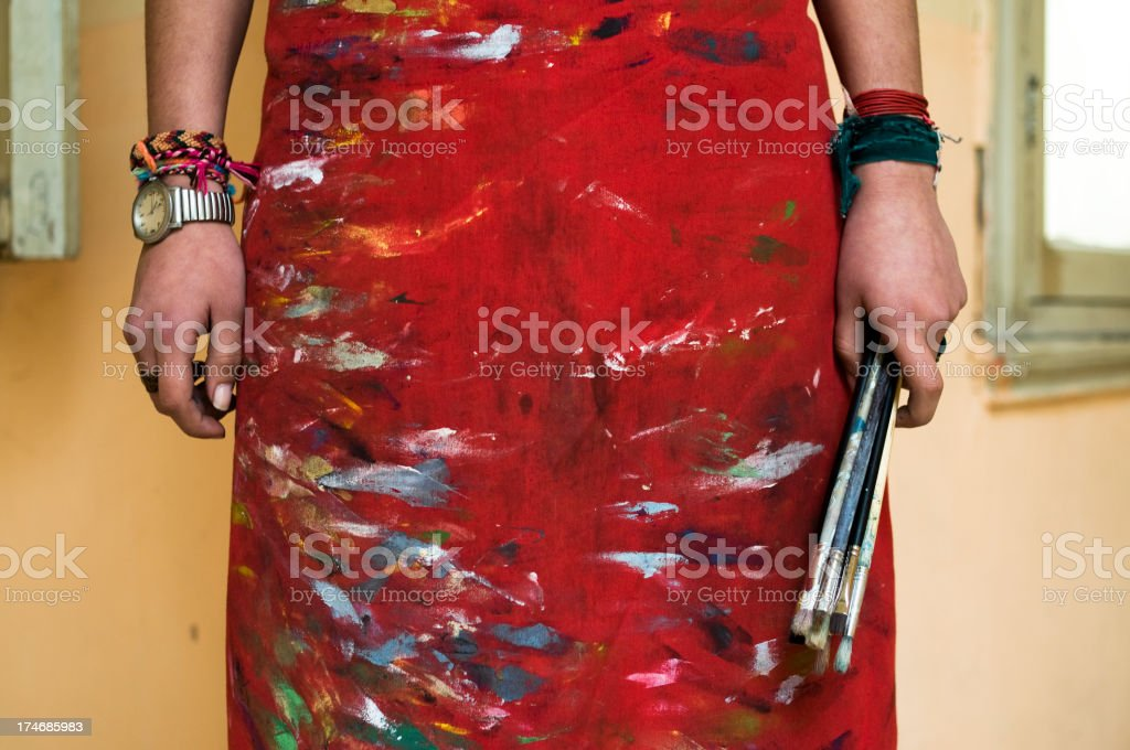 Artistic apron... royalty-free stock photo