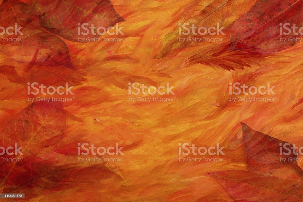 Artistic autumn leaves background royalty-free stock photo