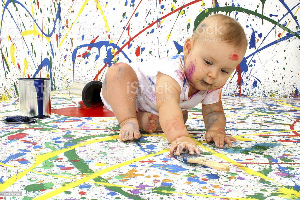 Artistic Baby royalty-free stock photo