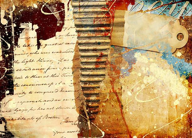 künstlerische hintergrund - sammelalbum wandkunst stock-fotos und bilder