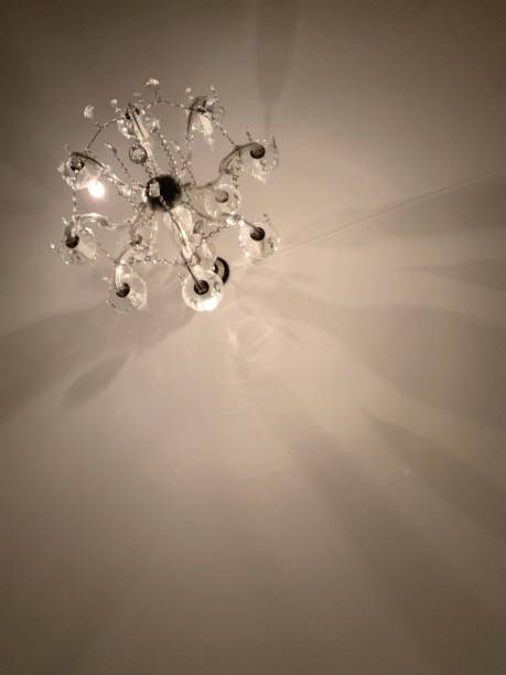 Artistic display of a chandelier stock photo