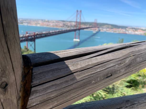 Artistic display of the view of a bridge stock photo