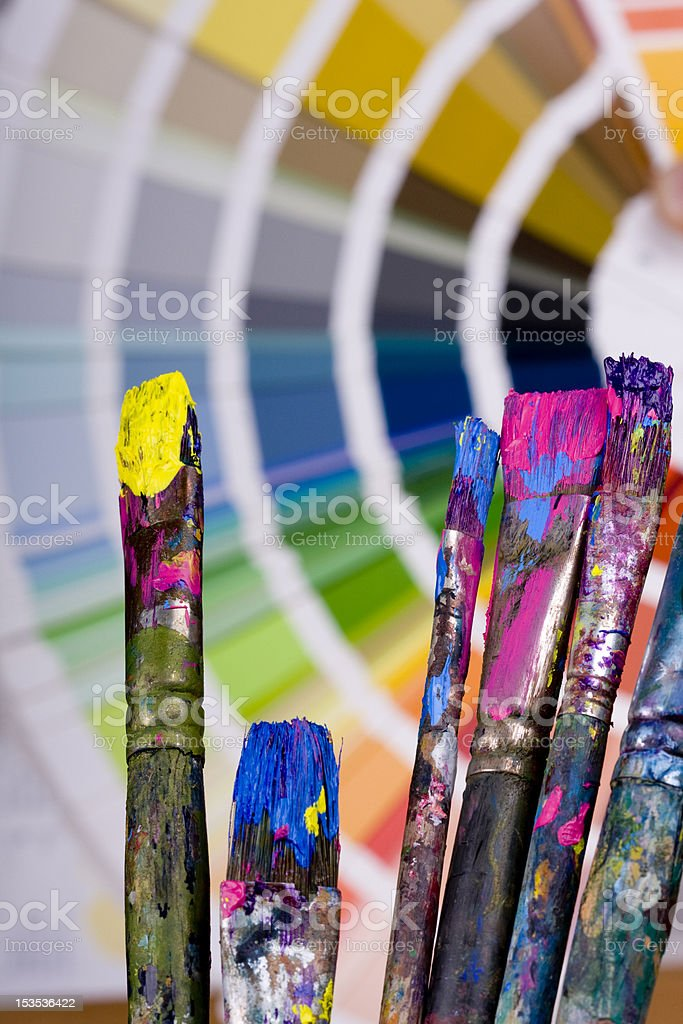 Artistic Equipment And Color Chart Stock Photo More Pictures Of