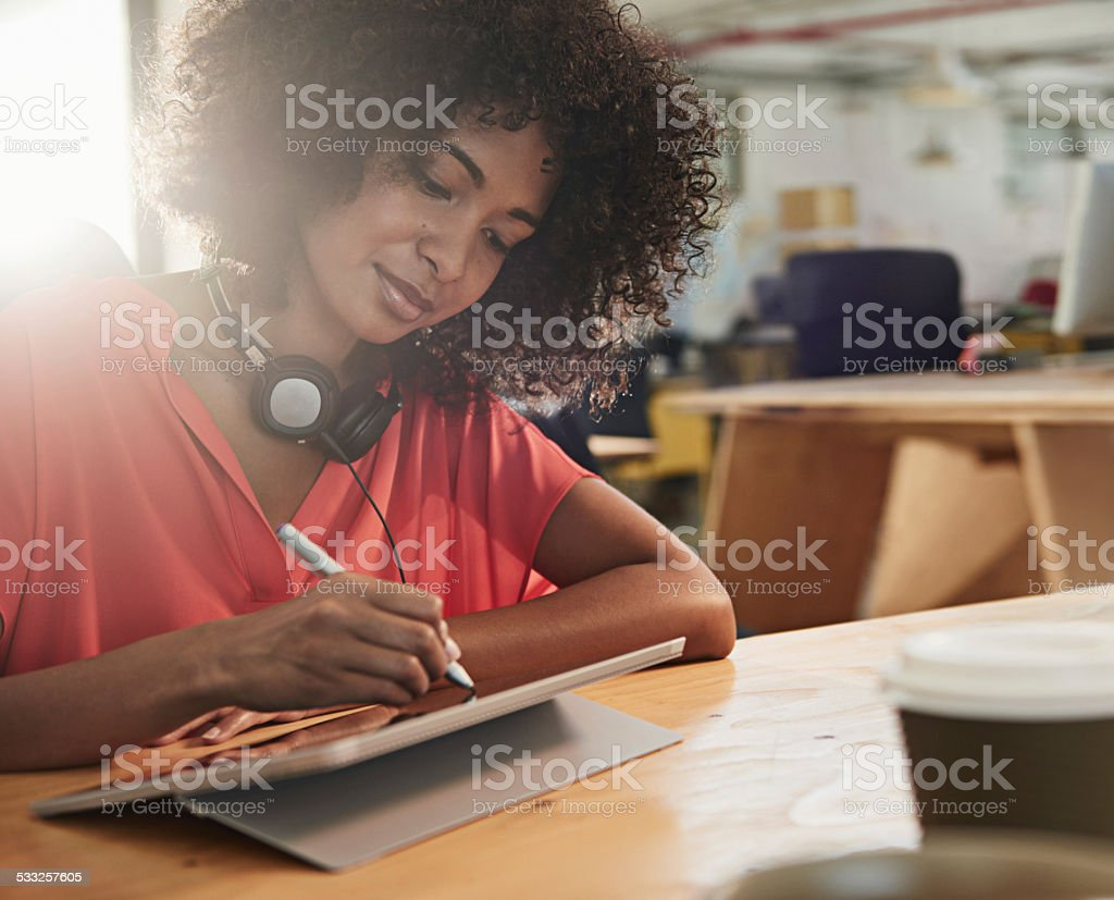 Artistic flair is essential in this job stock photo