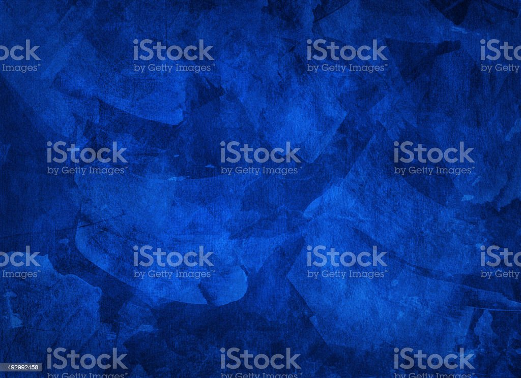 Artistic hand painted multi layered dark blue background stock photo