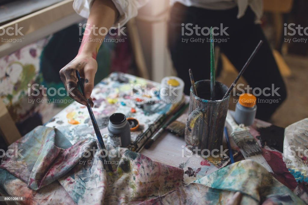 Artistic hand stock photo