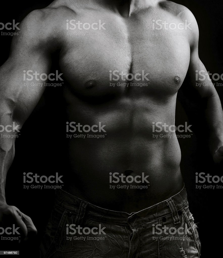 Artistic image of muscular male body royalty-free stock photo