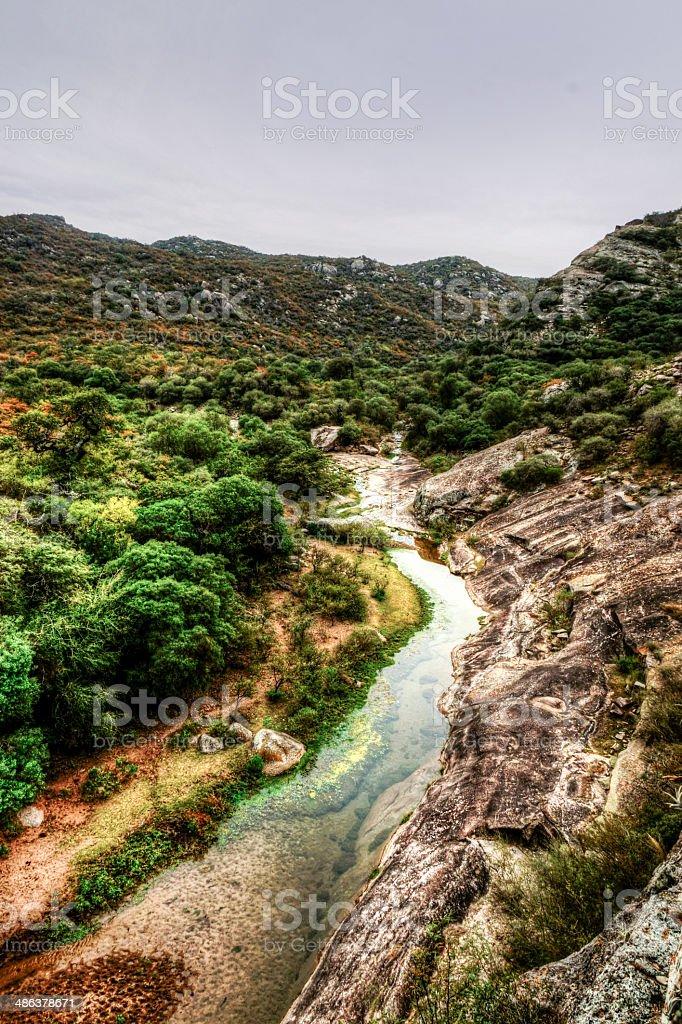 Artistic landscape Sierras the Córdoba, Argentina stock photo
