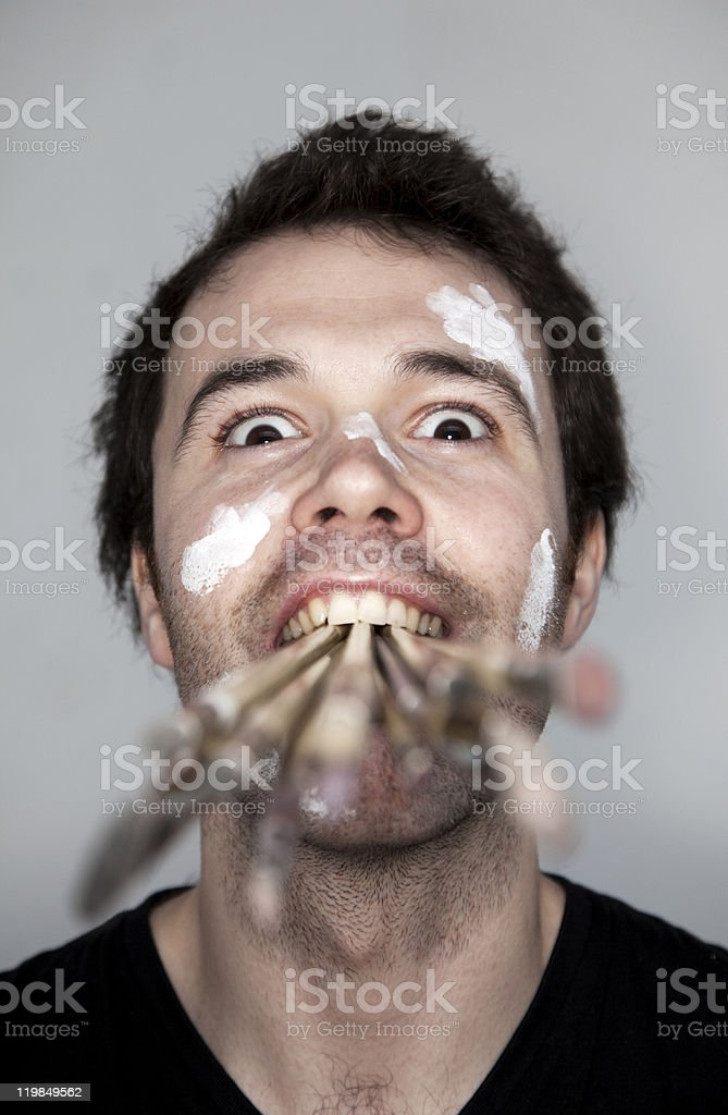 Artistic madness royalty-free stock photo