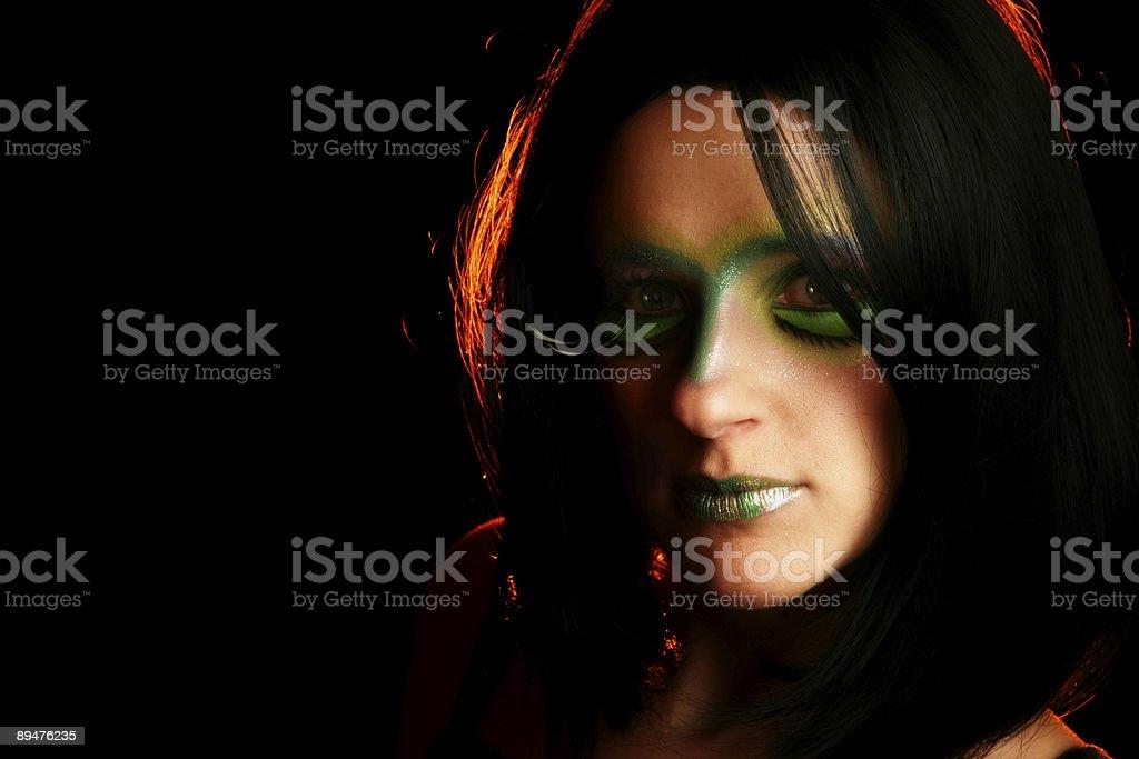 Artistic Makeup royalty-free stock photo