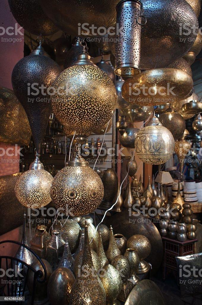 Artistic Moroccan Islamic Lamp stock photo