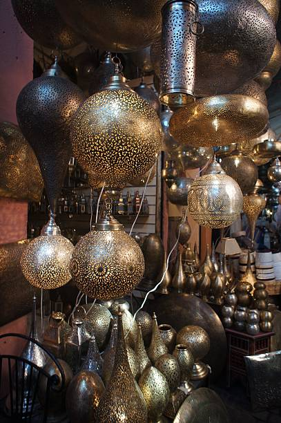 Artistic Moroccan Islamic Lamp stock photo