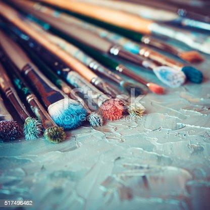 istock Artistic paintbrushes 517496462