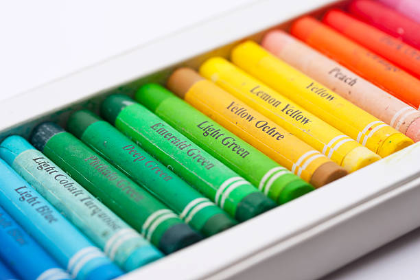 Artistic pastels stock photo