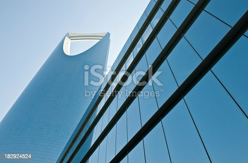 istock Artistic picture of a glass building in Saudi Arabia 182924524