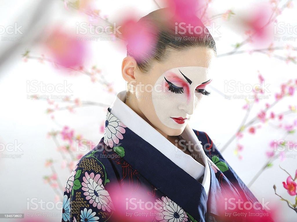 Künstlerische Porträt eines japanischen geisha Frau mit kreativen make-up – Foto