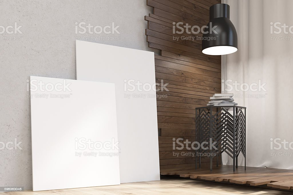Artistic room corner royalty-free stock photo