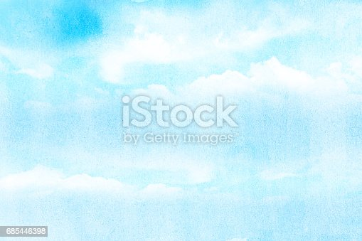 artistic soft cloud and sky with grunge watercolor texture