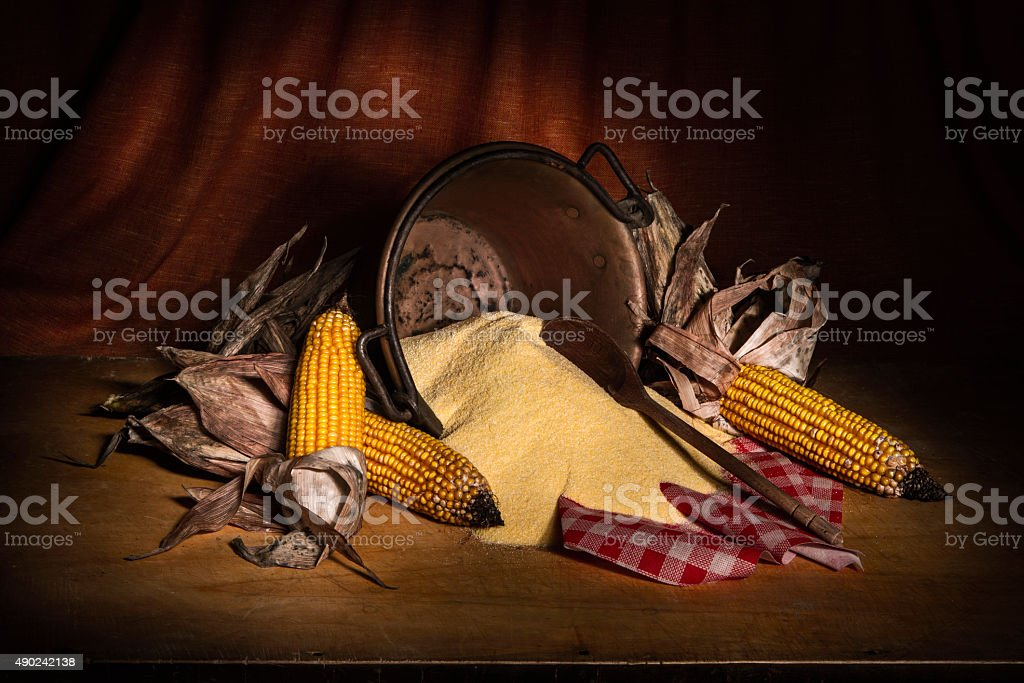 Artistic Still Life with Corn Vegetables stock photo