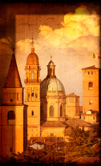 istock Artistic View of Italian Renaissance Churches and Towers 160195903