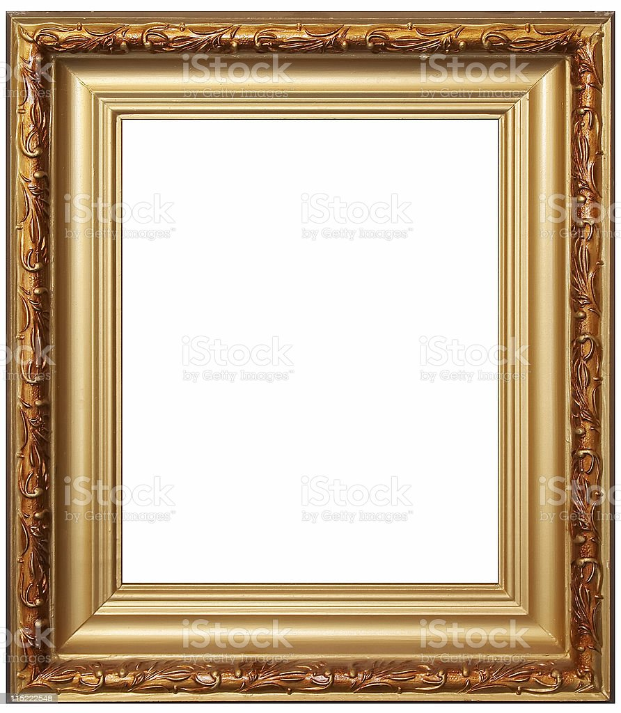 Artistic wood frame royalty-free stock photo