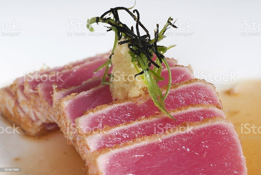 Artistically Presented Sashimi Plate royalty-free stock photo