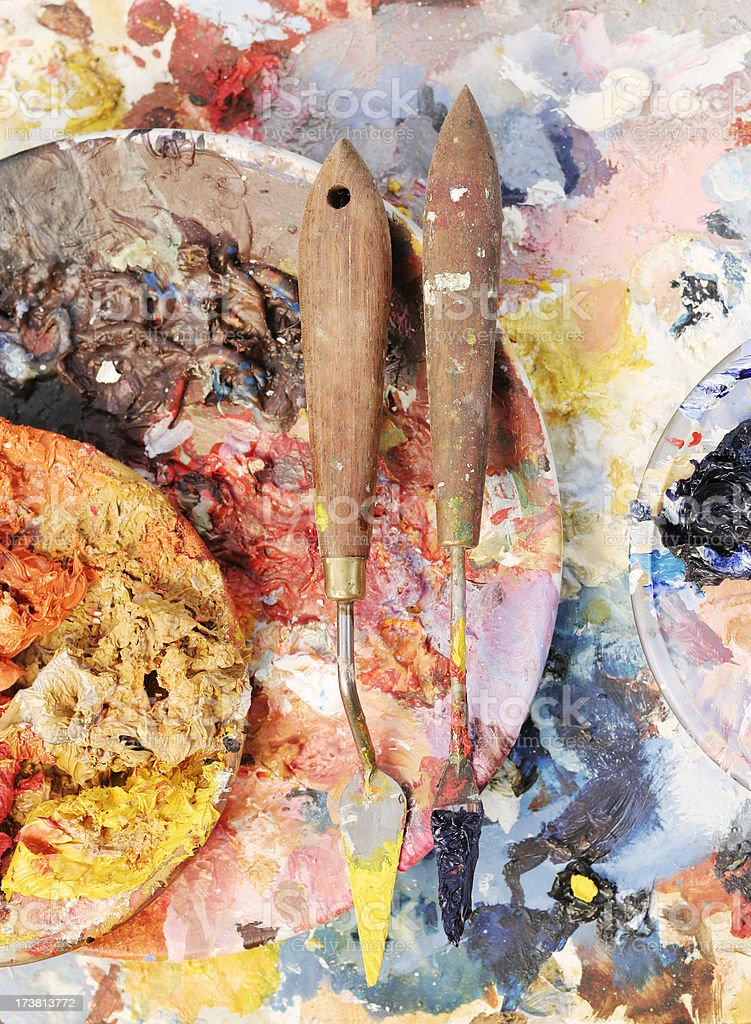 Artists Aftermath royalty-free stock photo