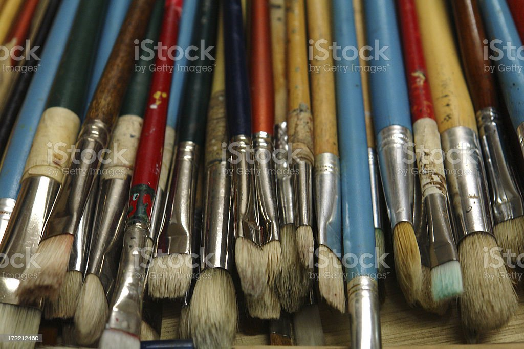 artist's brushes 1 royalty-free stock photo