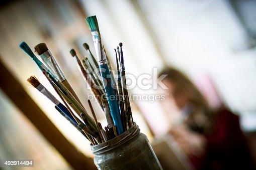 istock Artist's brushes 493914494