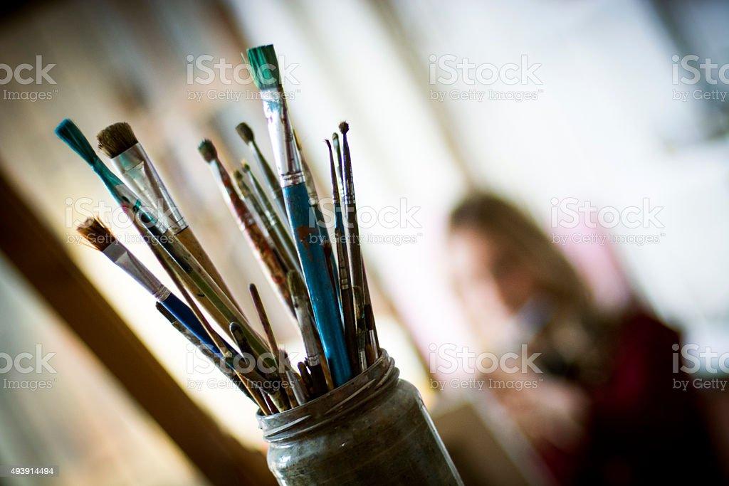 Künstler-Pinsel – Foto