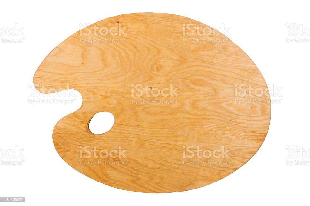 Artist's clean palette stock photo