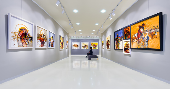 Artist's collection at showroom