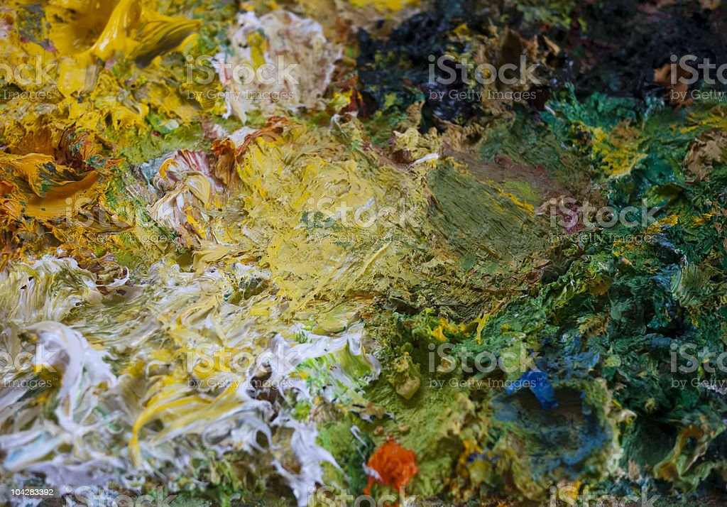 Artists color palette royalty-free stock photo