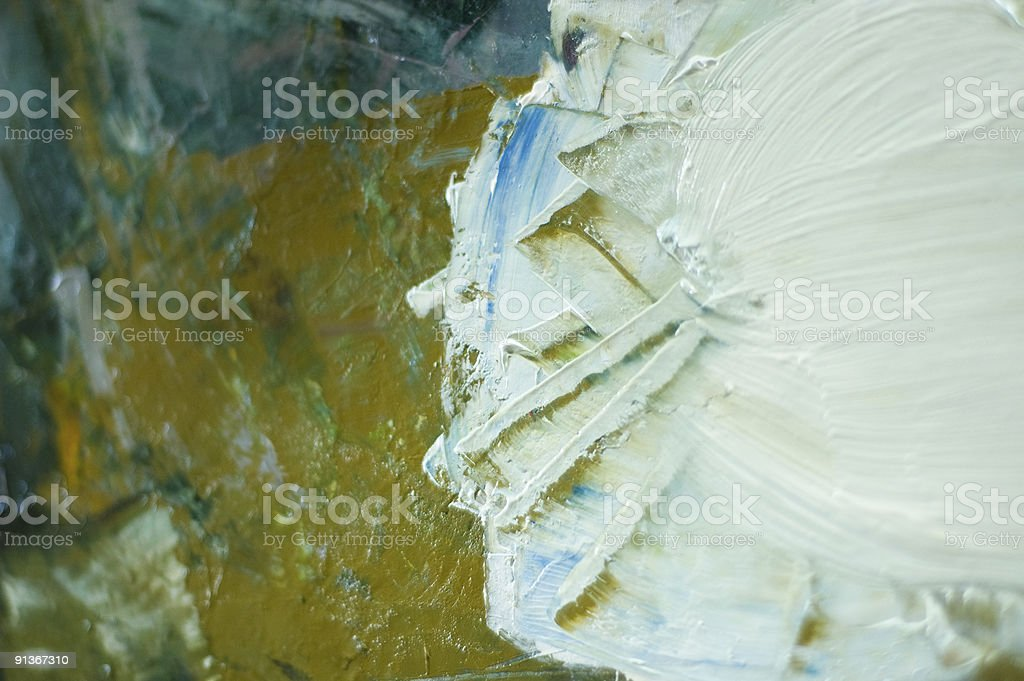 Artist's colour palate royalty-free stock photo