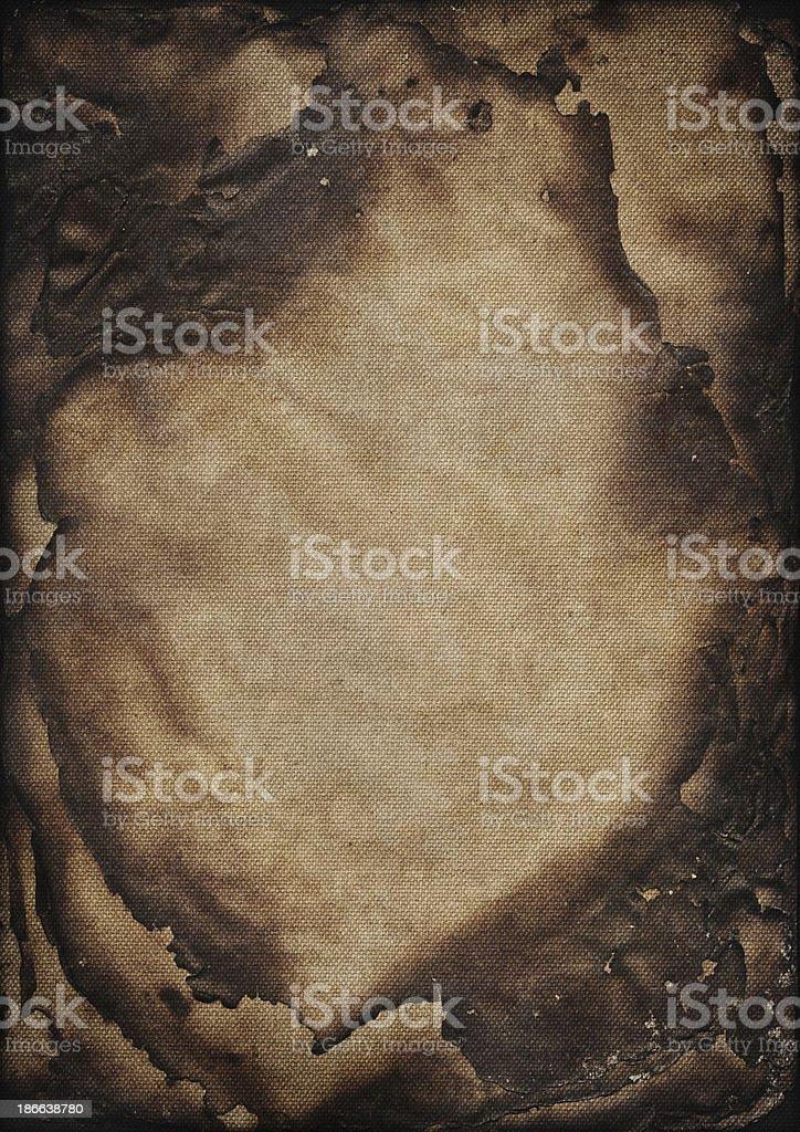 Artist's Cotton Canvas Burnt Pile of Sheets Vignette Grunge Texture royalty-free stock photo