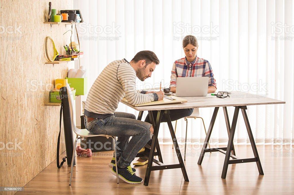Artistes salon espace de travail de bureau moderne u photos et