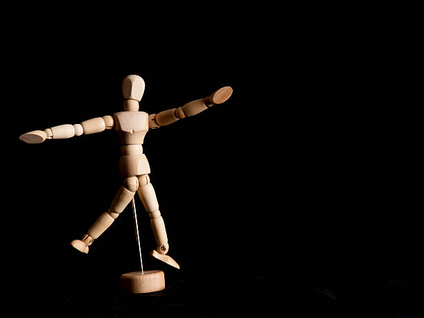 Artists Figurine Dancing stock photo