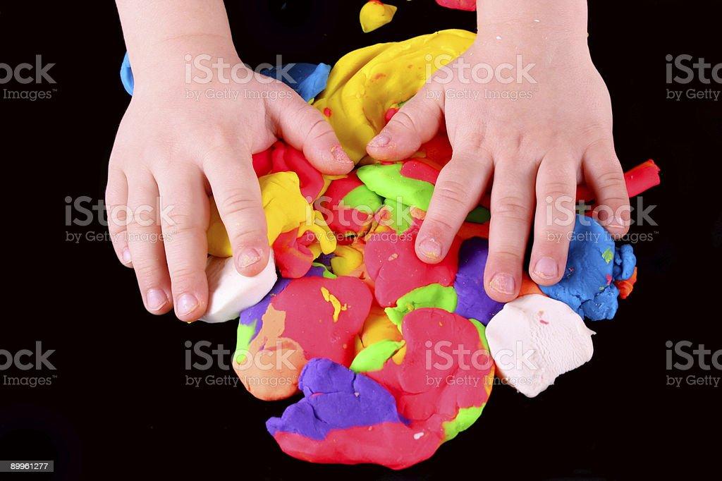 Artist's hands stock photo