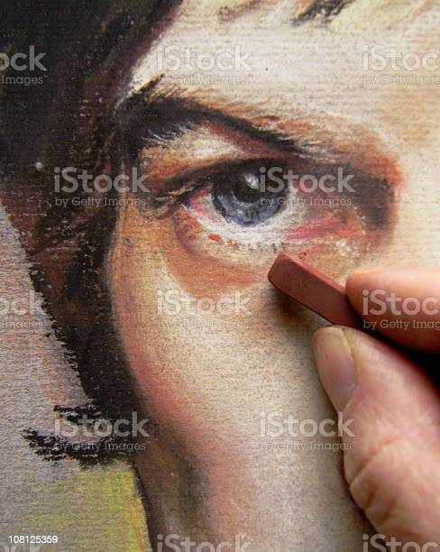 Artists hands working on pastel portrait of mans face picture id108125359?b=1&k=6&m=108125359&s=612x612&h= 0kh0sfchvcy70m3licejhyflb0gstjfurncin0si8a=