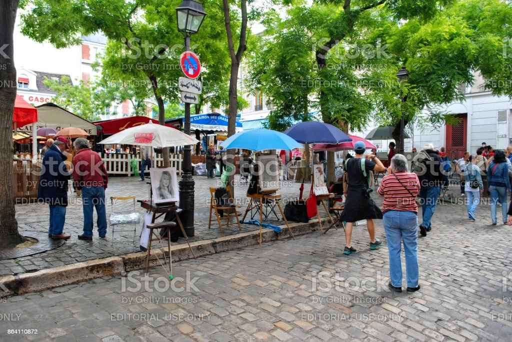 Artists in Montmartre. royalty-free stock photo