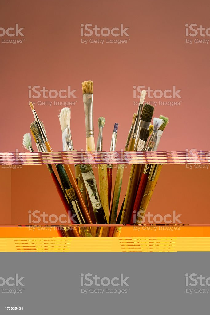 Artists paint brushes royalty-free stock photo