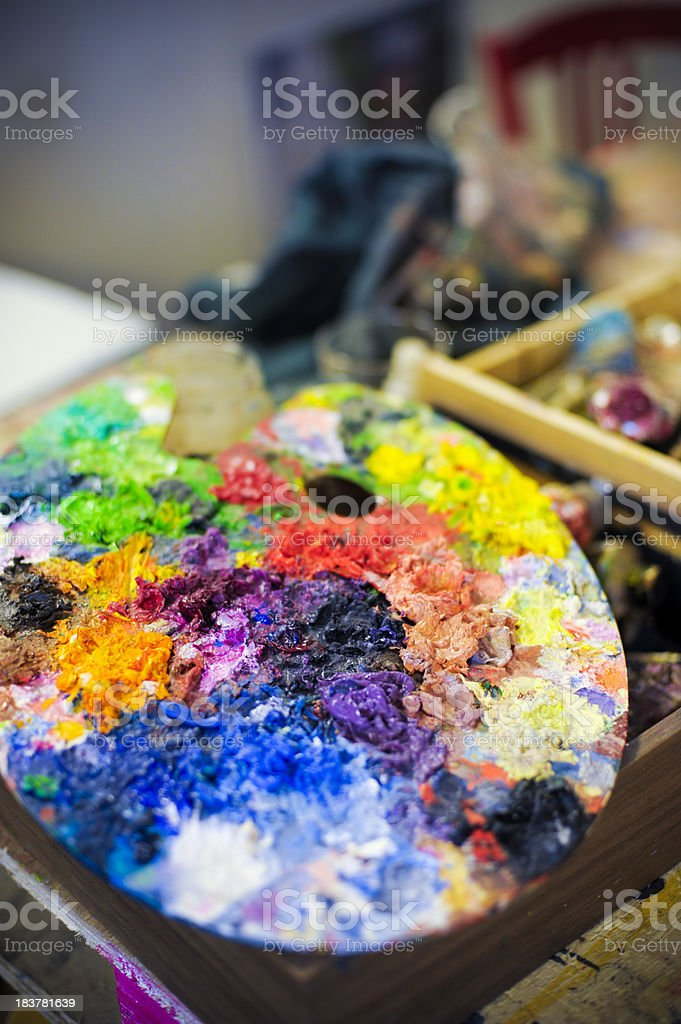 Artists Paint Palette royalty-free stock photo