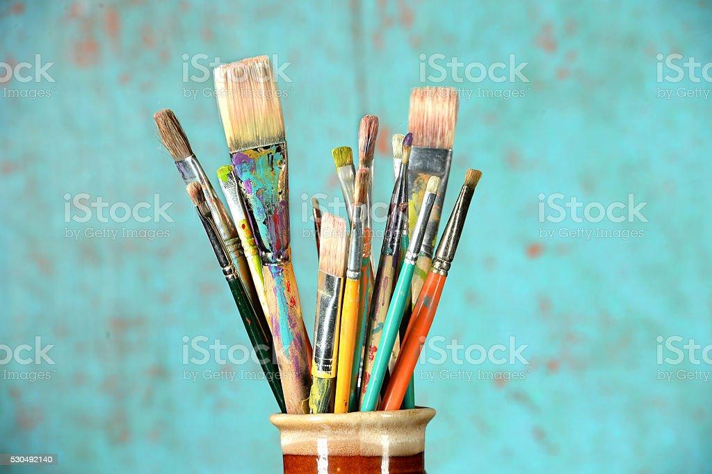 Artist's Paintbrushes stock photo