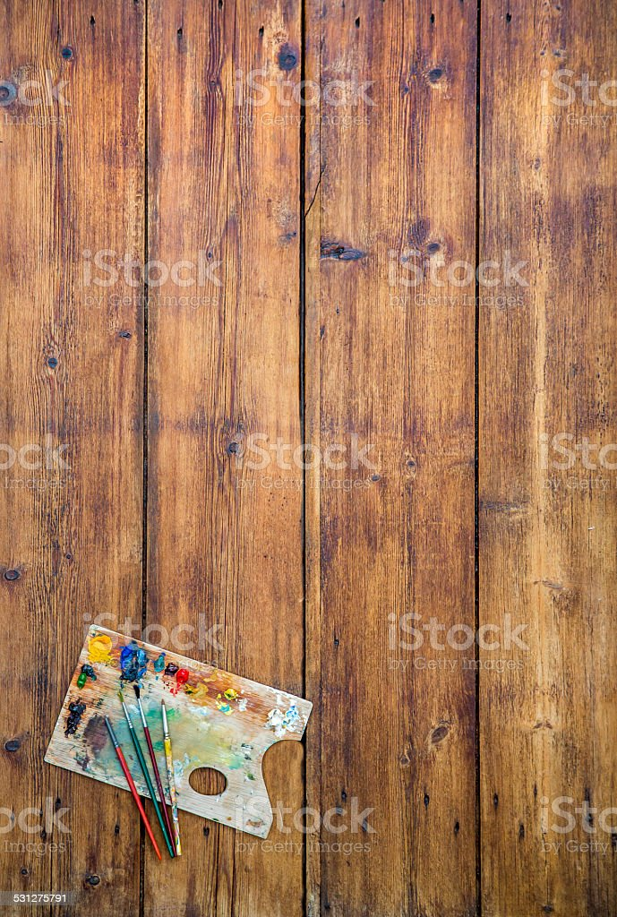 Artists palette background stock photo