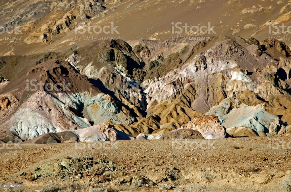 Artists Palette in Death valley stock photo
