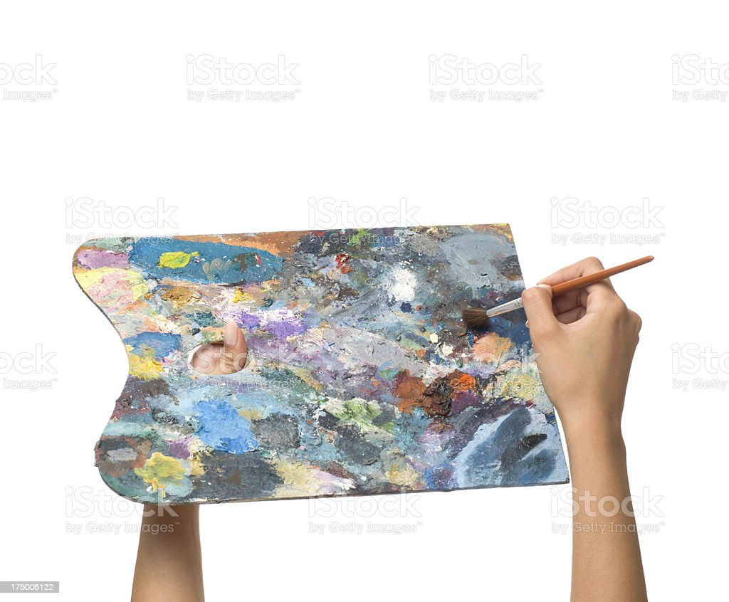Artists palette royalty-free stock photo