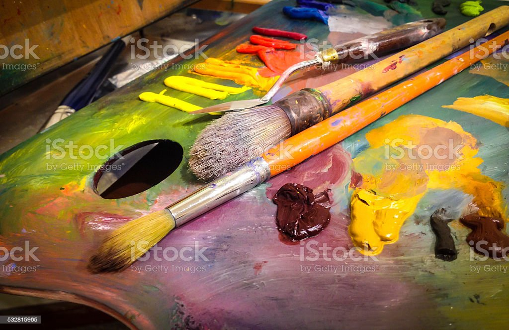 Artists palette stock photo