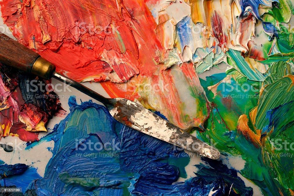 Artists palette stock photo