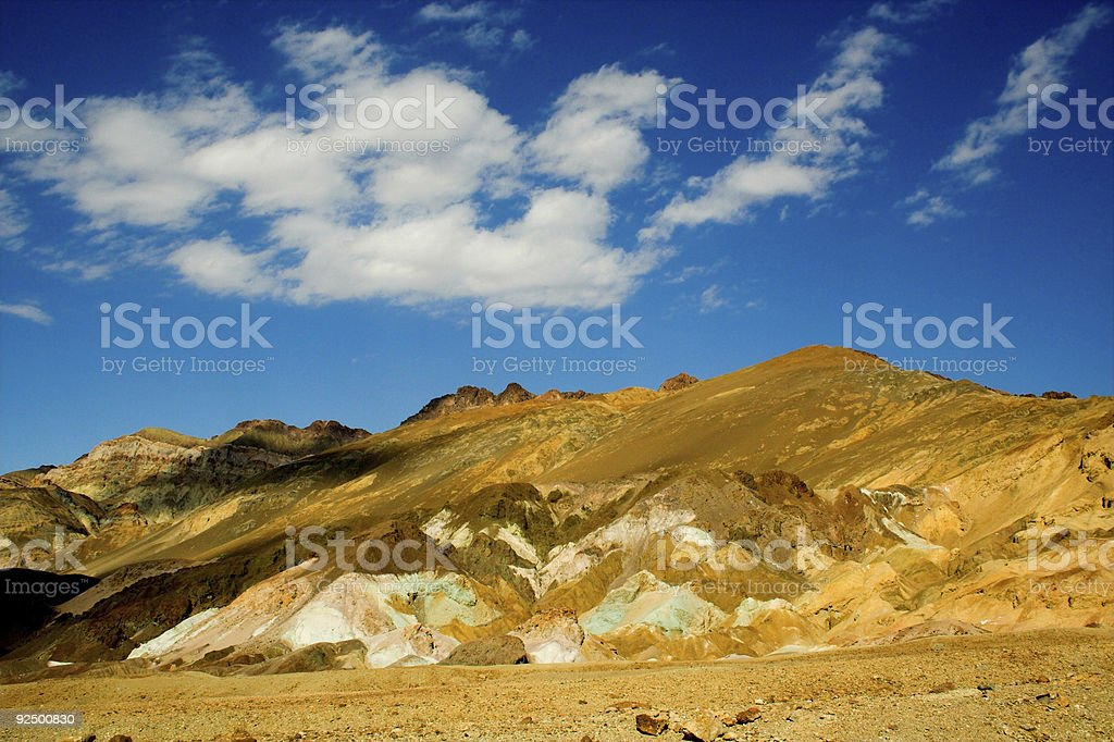 Artist's pallet.  Death Valley royalty-free stock photo